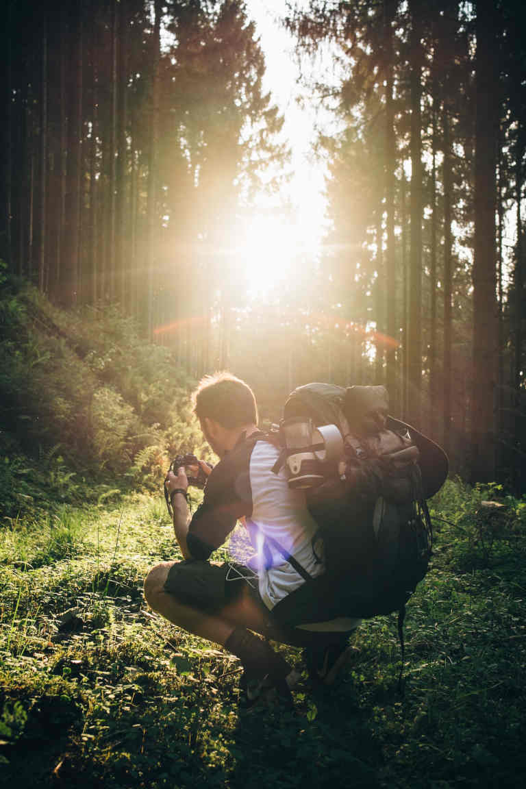 backpacking with gear