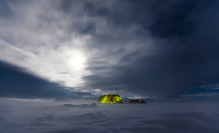 cold night camping
