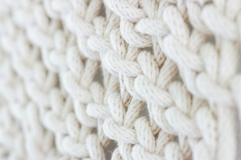 knitted, white wool